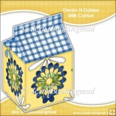 Denim & Daisies Milk Carton
