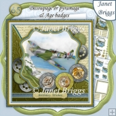 SPITFIRE Decoupage or Pyramage & Ages 7.5 Kit