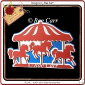 845 Merry Go Round Carousel Card *Multiple MACHINE Formats*