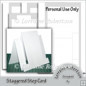 Staggered Step Card Template
