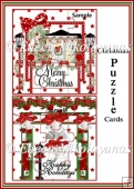 Christmas Puzzle Card Fronts Set of 2