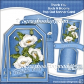 Thank You Buds N Blooms Pop Out Banner Card