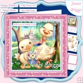 JUST FOR YOU DUCK 7.5 Decoupage & Insert Card Kit