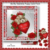 Be My Valentine Puppy Card Front