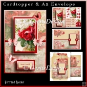 Cardtopper with Matching Envelope Red 733