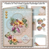 Flowers Of The Forest Framed Pyramage Card Kit