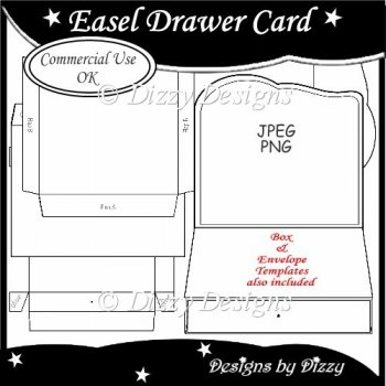 card making templates free download - easel drawer card template instant card making