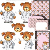 Nurse Teddy Decoupage Set
