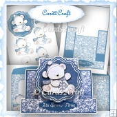 Winter teddy stepper card set