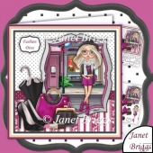 Fashion Diva 8x8 Decoupage Kit