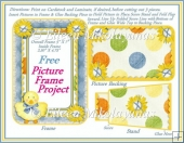 FREE Printable STANDING Easter Picture Frame/Card Topper