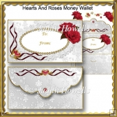 Hearts And Roses Money Wallet