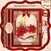 CHRISTMAS POINSETTIA 7.8 Quick Vintage Christmas Card & Insert