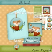 Bookmark with box and notecard Fox
