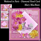 Weekend in Paris - Diamond Panel Card