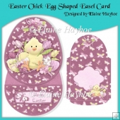 Easter Chick Egg Shaped Easel Card