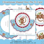 Christmouse Shaped Over The Top Card