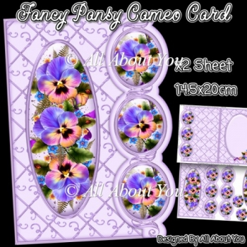 Fancy Pansy Cameo Card