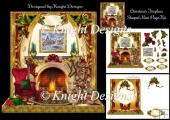 Christmas Fireplace Mini Page Kit