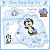 Flower Penguin Easel Card