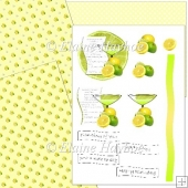 Lemonade Recipe Decoupage