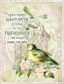 Life's Friendships A4 Card Front