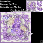 Blossom Posy Decoupage Card Front