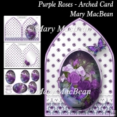 Purple Roses - Arched Card