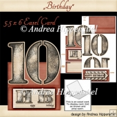 Birthday Easel Card 10 red