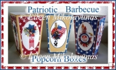 Patriotic Picnic Barbecue Popcorn Boxes Set