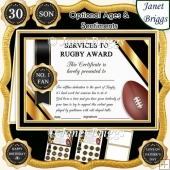 RUGBY Humorous A5 Certificate & Ages Card Kit