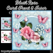 Blush Rose 8x8 Fancy Card Front