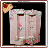 648 Floral Double Window Card *MACHINE Formats*