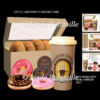 Coffee And Donuts Shaped Card