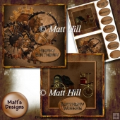 2 Steampunk Card Fronts