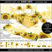 VINTAGE SUNFLOWER NOTELETS GIFT SET
