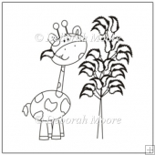 Jeremy the Giraffe with his tree and leaf