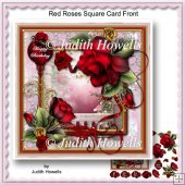 Red Roses Square Card Front