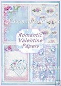 Romantic Valentine Backing Background Papers Set