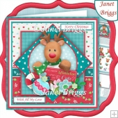 SO CUTE DEER Christmas 7.5 Decoupage & Insert Kit