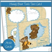 Honey Bear Tools Father's Day Tent Card