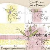 Ready to Print Card Fronts - Swiryl Flower(Retiring in July)