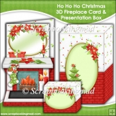 Ho Ho Ho Christmas 3D Fireplace Card & Presentation Box