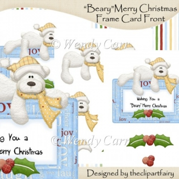 Beary Merry Christmas Frame Card Top(Retiring in July)