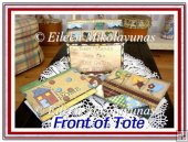 Country Quilt File Holder Box, File Folders, and Tags