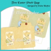 Two Easter Pinch Bags