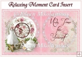 Relaxing Moment Female Card Insert