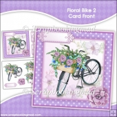 Floral Bike 2 Decoupage Card Front