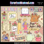 Mothers Day ClipArt Graphic Collection