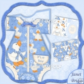 Baby Boy Romper Suit Shaped Card Mini Kit
